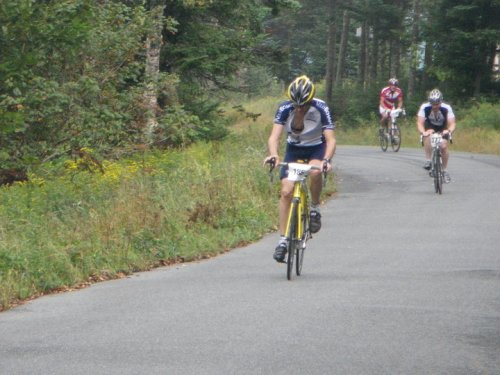 Alain before the finish at Burke