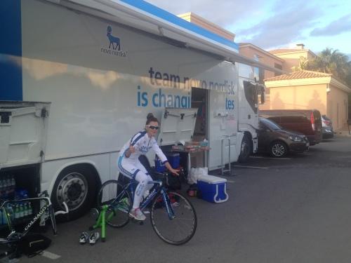 Biljana Southerland on the trainer in Alicante, Spain