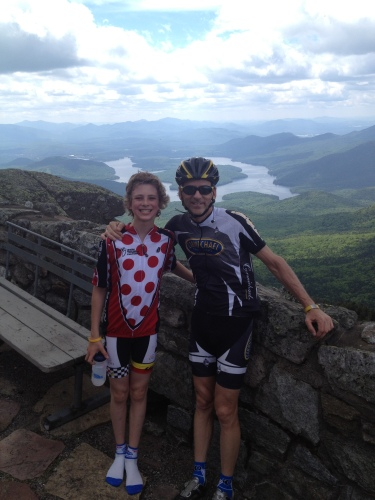 On a recon ride up Whiteface Mountain with Alex.