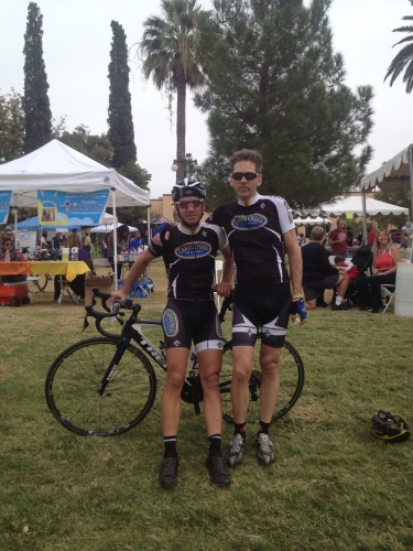 After the El Tour de Tucson with my coach Jason Tullous. 182 kilometers in 4:39 hrs.