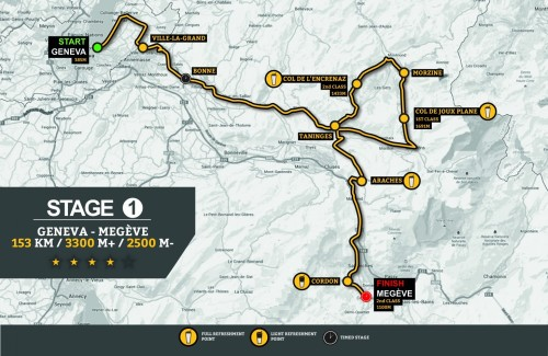 Haute Route Stage 1 Map.