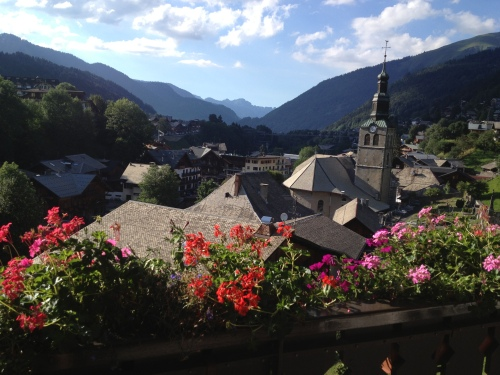 View from my hotel room in Morzine.